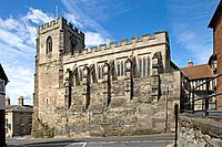 Warwick, Chantry Chapel of St James, built over the West Gate, by Thomas Beauchamp. Warwickshire, the Midlands, UK