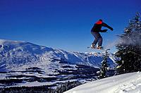 Snowboarder Catches Air on Tincan Mountain KP Alaska