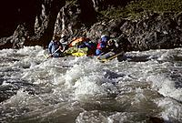 People Paddling Rapids on Hulahula River Actic National Wildlife Refuge Alaska Summer