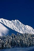 View of Jagged Peaks Along Turnagain Pass Winter KP AK