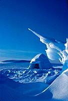 Traditional Inuit Eskimo Igloo Resolute Bay Canada Winter Scenic