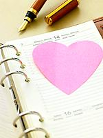 Datebook with Valentine's Day date