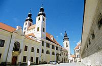 Town protected by UNESCO, Telc, Southern Moravia, Czech Republic