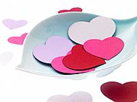 Bowl of paper hearts