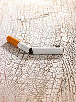 Close_up of a broken cigarette
