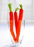 Close_up of carrots in a glass