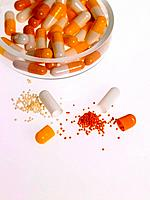 Close_up of capsules in a bowl