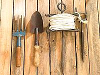Close-up of gardening equipments (thumbnail)