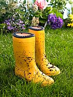 Close_up of a pair of rubber boots