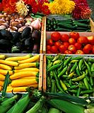 Vegetables at an Outdoor Market