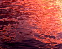 Water Surface and Sunset, Close Up