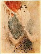 fine arts _ Toulouse_Lautrec, Henri Marie Raymond de 24.11.1864 _ 9.9.1901, drawing, Elsa, dite la Viennoise, 1897, Museum Albi toulouse lautrec, Fren...