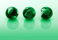 Three green globes (thumbnail)