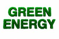 Green energy sign