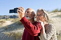 Senior couple taking a self portrait