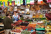 Market of Le Halles, Anguleme.Poitou-Charentes, France.
