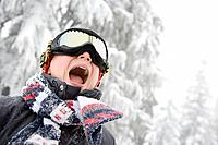 Boy in ski goggles