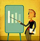 A businesswoman pointing to a chart (thumbnail)