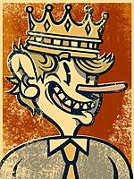 Man with a long nose wearing a crown (thumbnail)