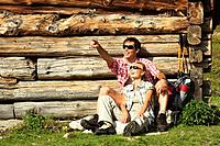 Austria, Salzburger Land, couple taking a break