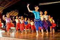 Girls at training in a Classic Khmer dance school (Apsara dance), Phnom Penh, Cambodia