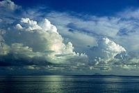 Dramatic storm clouds gather over Sint Maarten, Netherland Antilles