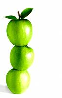 A stack of green apples