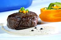 Sirloin with pepper sauce