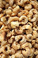 Salty pork rinds on sale at the market place