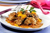 Rabbit with sweet potatoes
