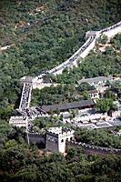 The great wall of China by Badaling is a World Heritage site on the Unesco list.