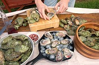 Cultured oysters, shellfish, Food
