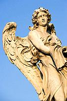 Statue of angel at Sant'Angelo bridge, Rome. Italy