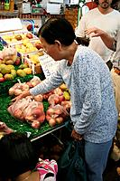 People on Fremantle Markets (since 1897), fruits on sale, Fremantle, Perth, Western Australia