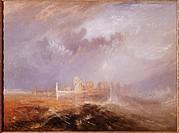 Ü Kunst, Turner, Joseph Mallord William 23.4.1775 _ 19.12.1851, Gemälde Quilleboeuf, Gulbenkian, Lissabon früh impressionismus, landschaft, monumental...