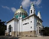 Wien,, Kirche am Steinhof, 1905_1907 von Otto Wagner erbaut