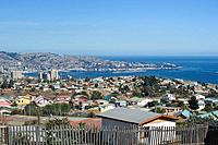 VINA DEL MAR VALPARAISO BAY FROM MIRADOR PADRE HURTADO SAUSALITO CHILE