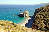 The famous Kaladi beach, Kythera island, Greece