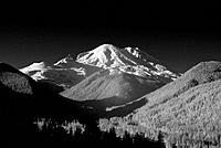 Infared image of Mount Rainier from Mount Saint Helens National Volcanic Monument