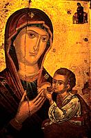 Cyprus _ Byzantine Museum _ Virgin Mary and the Holy Infant _ Galataria 16th century _ Paphos
