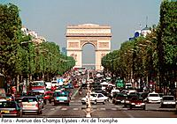Paris _ Avenue des Champs Elysees _ Arc de Triomphe