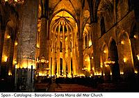 Spain _ Barcelona _ Santa Maria del Mar Church Spain