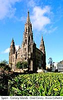 Spain _ Canary Islands _ Great Canary _ Arucas Cathedral Spain