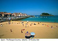 Spain _ The Basque Country _ Lekeitio _ St Nicolas Islet Spain