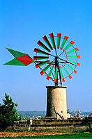 Spain _ The Balearics _ Majorca _ Wind Turbine