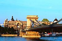 Hungary _ Pest _ Chains Bridge