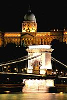 Hungary _ Buda _ View on Chains Bridge And Royal Castle