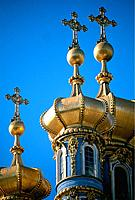 Russia _ St Petersburg _ tsarskoie Selo _ Catherine 1 st Great Palace _ Chapel Onion Dome