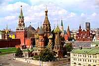 Russia _ Moscow _ Red Place _ Kremlin _ St Basile the Blessed