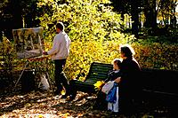 Russia _ St Petersburg _ Summer Gardens _ Painter